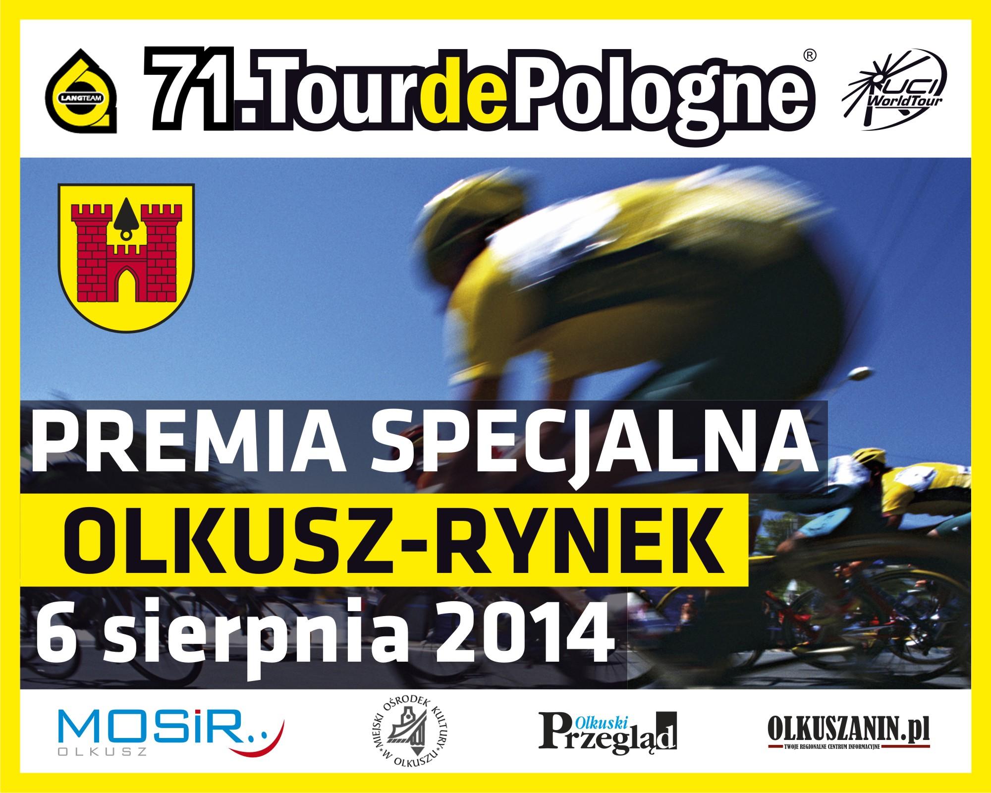 Plakat promujący 71 tour de pologne w Olkuszu