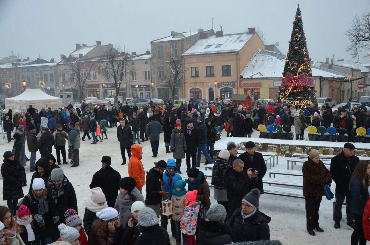 Zdjęcie mieszkańców Olkusza na Rynku