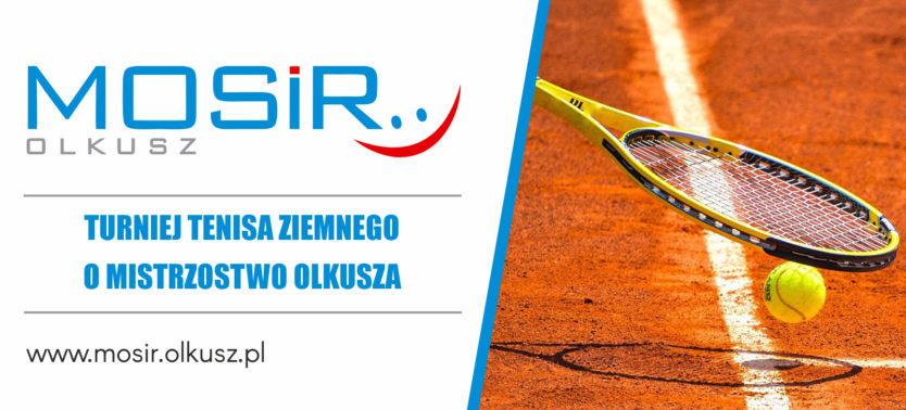 Slajder promujący otwarcie kortów tenisowych oraz Mistrzostwa Olkusza w Teinisie Ziemnym
