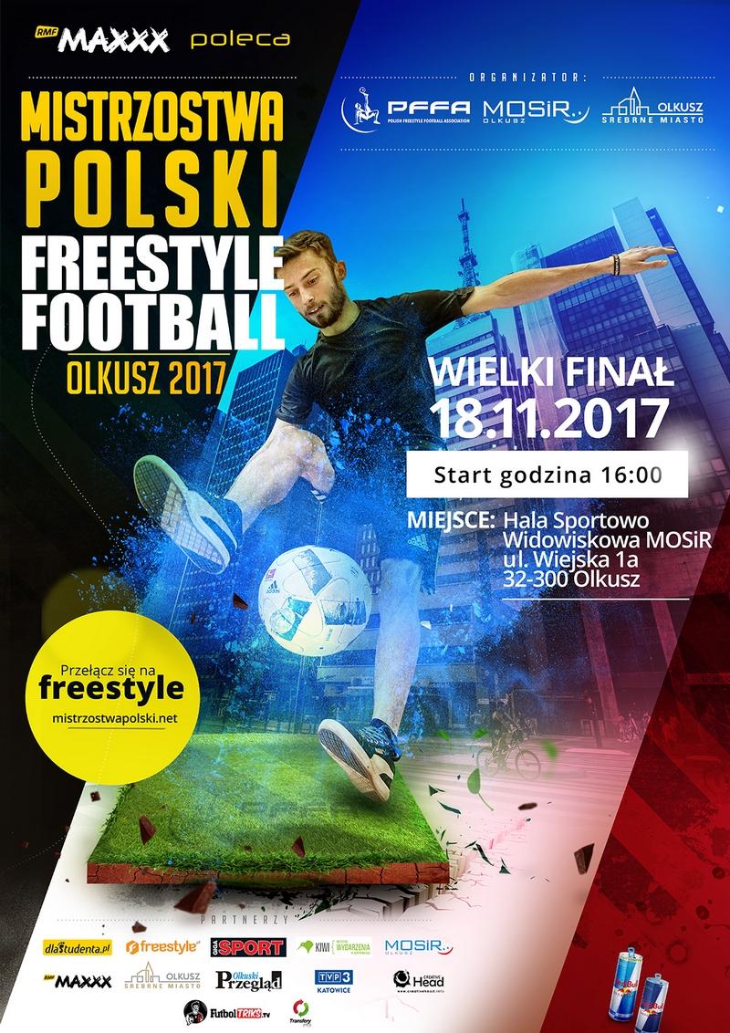 Plakat promujący Mistrzostwa Polski Freestyle Football 2017