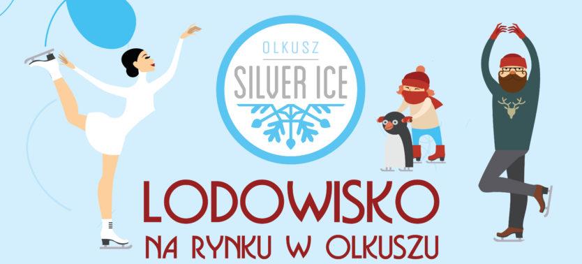 Slajder promujący lodowisko na rynku w Olkuszu