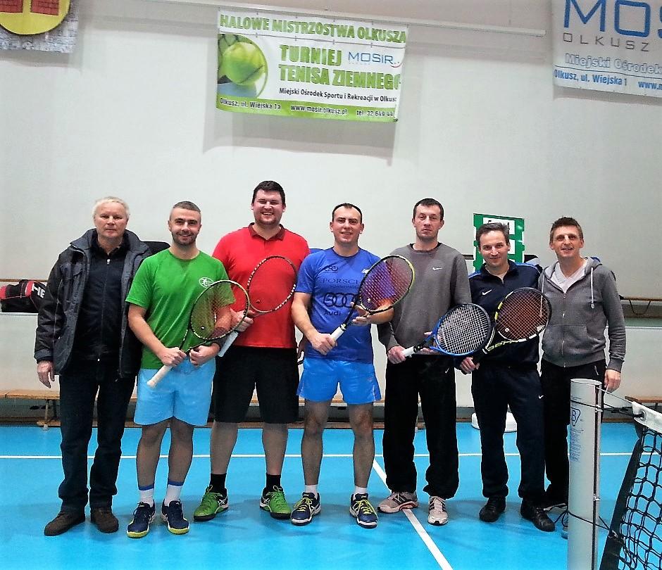 Uczestnicy podczas Halowych Grand Prix Olkusza w Tenisie Ziemnym
