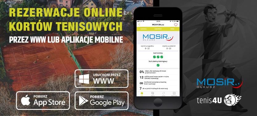 Slajder promujący rezerwacje kortów tenisowych online