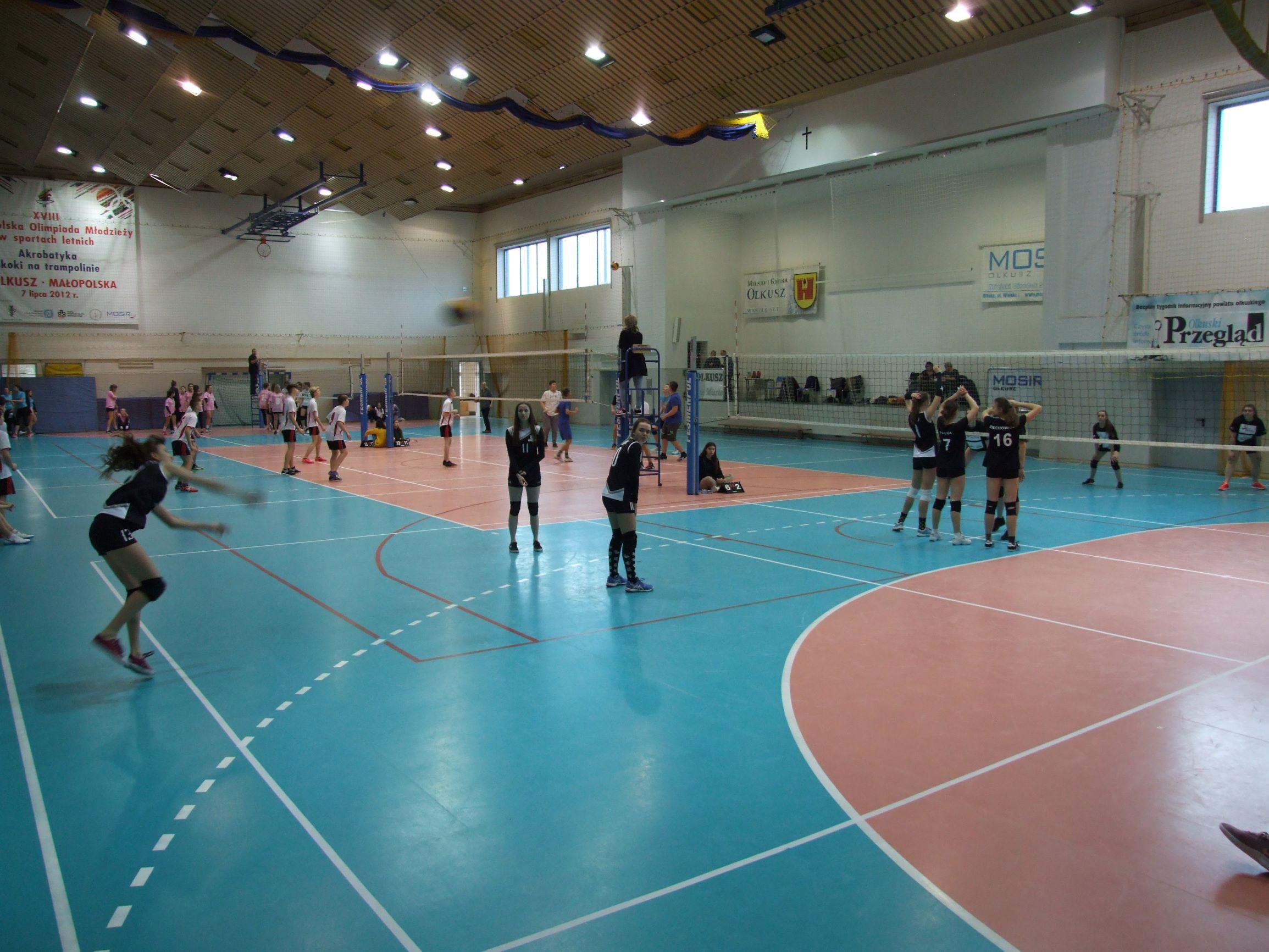Zdjęcie z turnieju podczas rozgrywanego meczu
