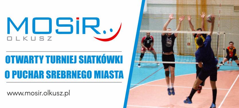 Slajder promujący Otwarty Turniej Siatkówki o Puchar Srebrnego Miasta