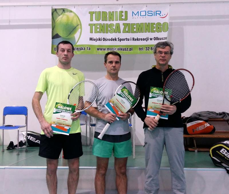Uczestnicy IX Halowych Mistrzostw Olkusza w Tenisie Ziemnym