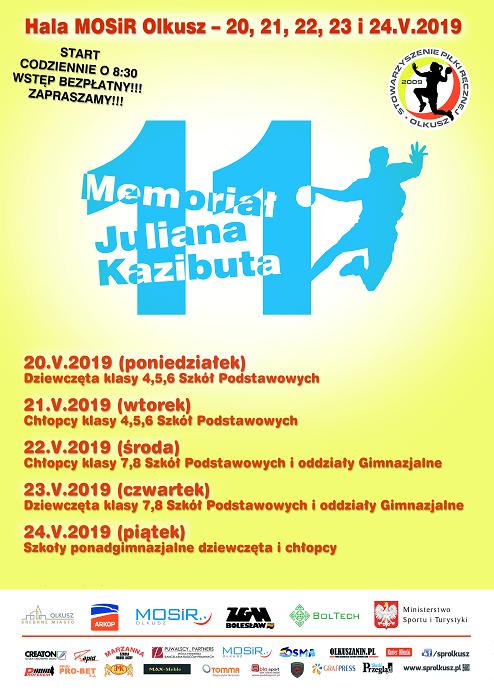 XI Memoriał Juliana Kazibuta - Turniej Piłki Ręcznej