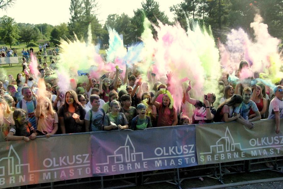 Zdjęcie podczas wyrzutu kolorów