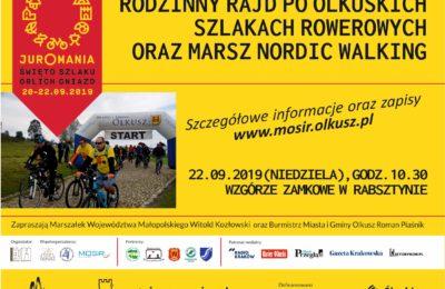 Więcej o: Rodzinny Rajd po Olkuskich Szlakach Rowerowych oraz marsz Nordic Walking – Juromania 2019