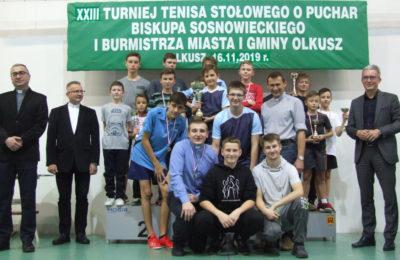 Więcej o: XXIII Turniej Tenisa Stołowego Liturgicznej Służby Ołtarza Diecezji Sosnowieckiej o Puchar Biskupa Sosnowieckiego i Burmistrza Miasta i Gminy Olkusz