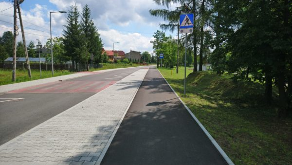 Zdjęcie ścieżki rowerowej przy Silver Parku w Olkuszu