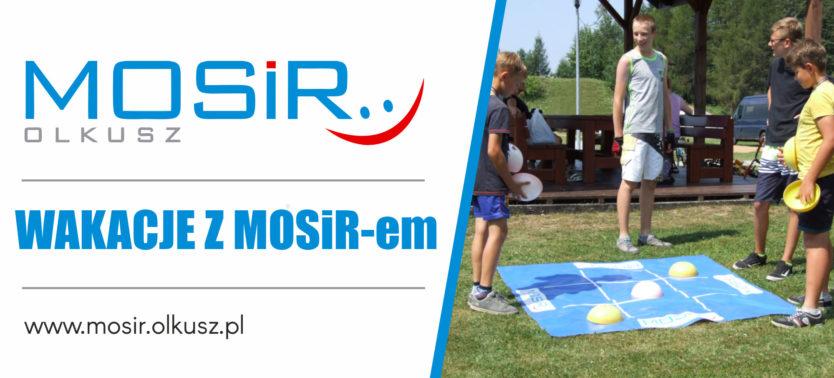 Slajder promujący Wakacje z MOSiR-em 2020