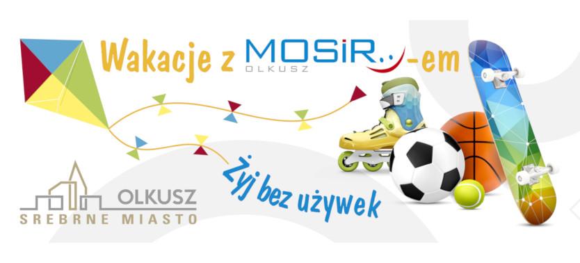Slajder promujący Wakacje z MOSiR-em