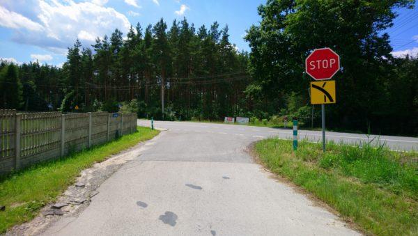Skrzyżowanie z drogą wojewódzką 791 w Niesułowicach