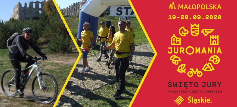 Slajder promujący Indywidualny Rodzinny Rajd Rowerowy i Marsz Nordic - Walking