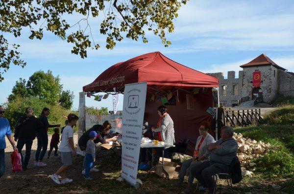 Namiot Stowarzyszenia zamek Rabsztyn podczas Juromanii