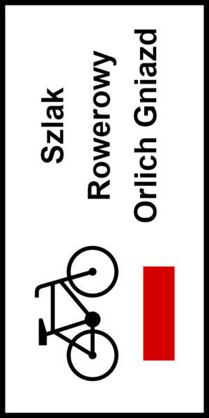 Znak Rowerowy ze szlakiem rowerowym Orlich Gniazd