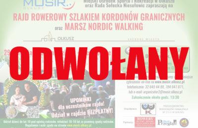 Więcej o: Odwołany Rajd Rowerowy Szlakiem Kordonów Granicznych i Marsz Nordic Walking
